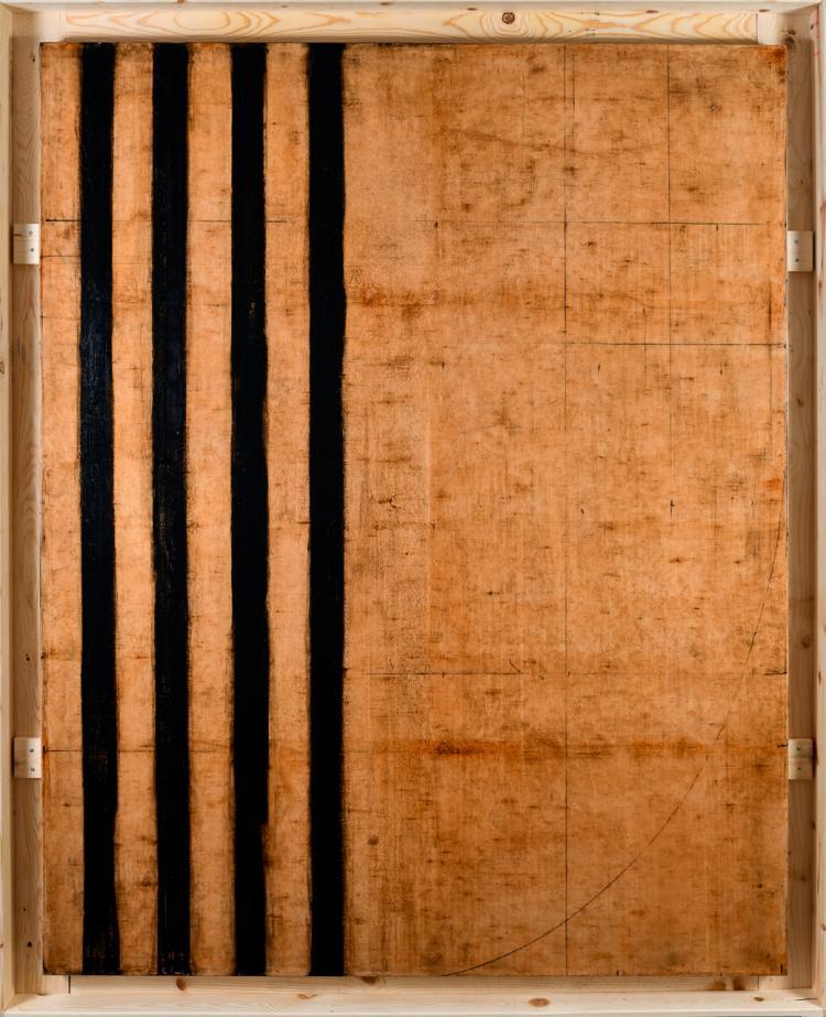 """Lot 035: Robert Kelly (b. 1956) """"""""Palimpsest XXXIII"""" mixed media"""" 1999"""