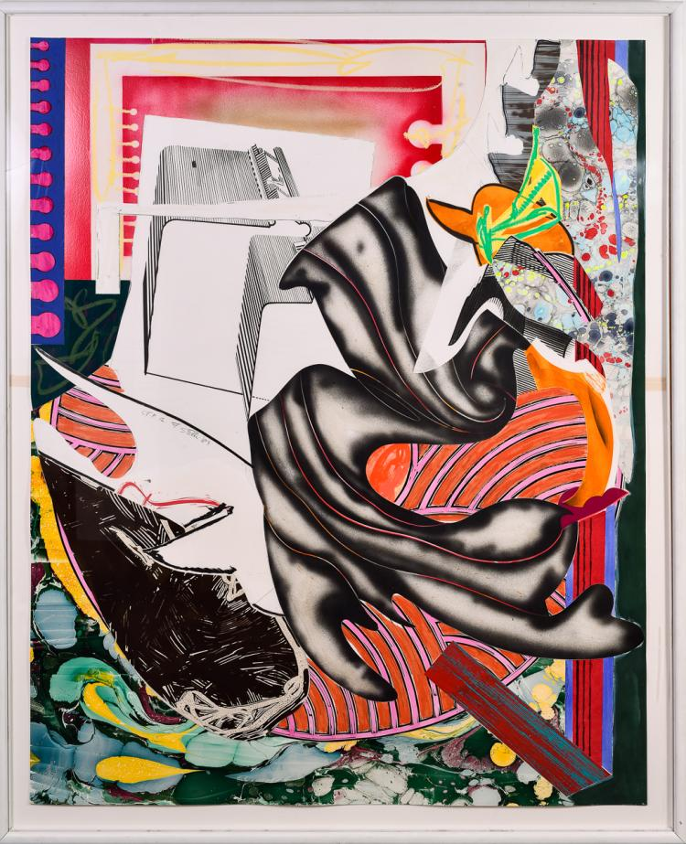 "Lot 044: Frank Stella (b. 1936) """"Moby Dick Series"" lithograph and silkscreen"" 1985"