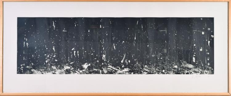 """Lot 081: Pat Steir (b. 1938/40) """"""""From the Boat"""" lithograph"""" 1991"""