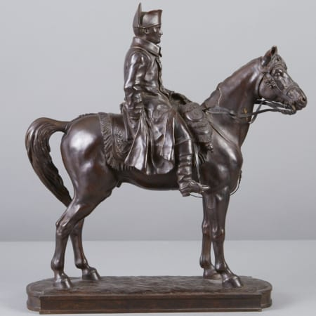 Lot 074: Alexandre Vibert Napoleon on Horseback Bronze Sculpture