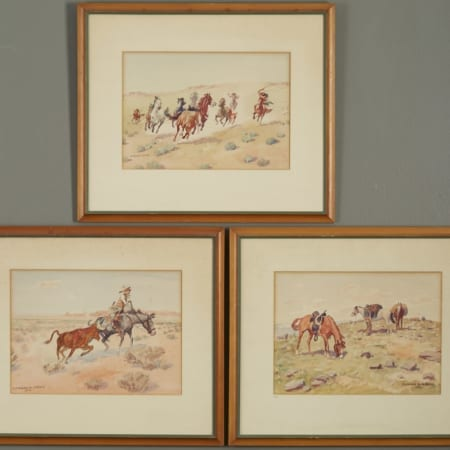 Lot 017: Group of 3 Leonard Reedy Watercolors