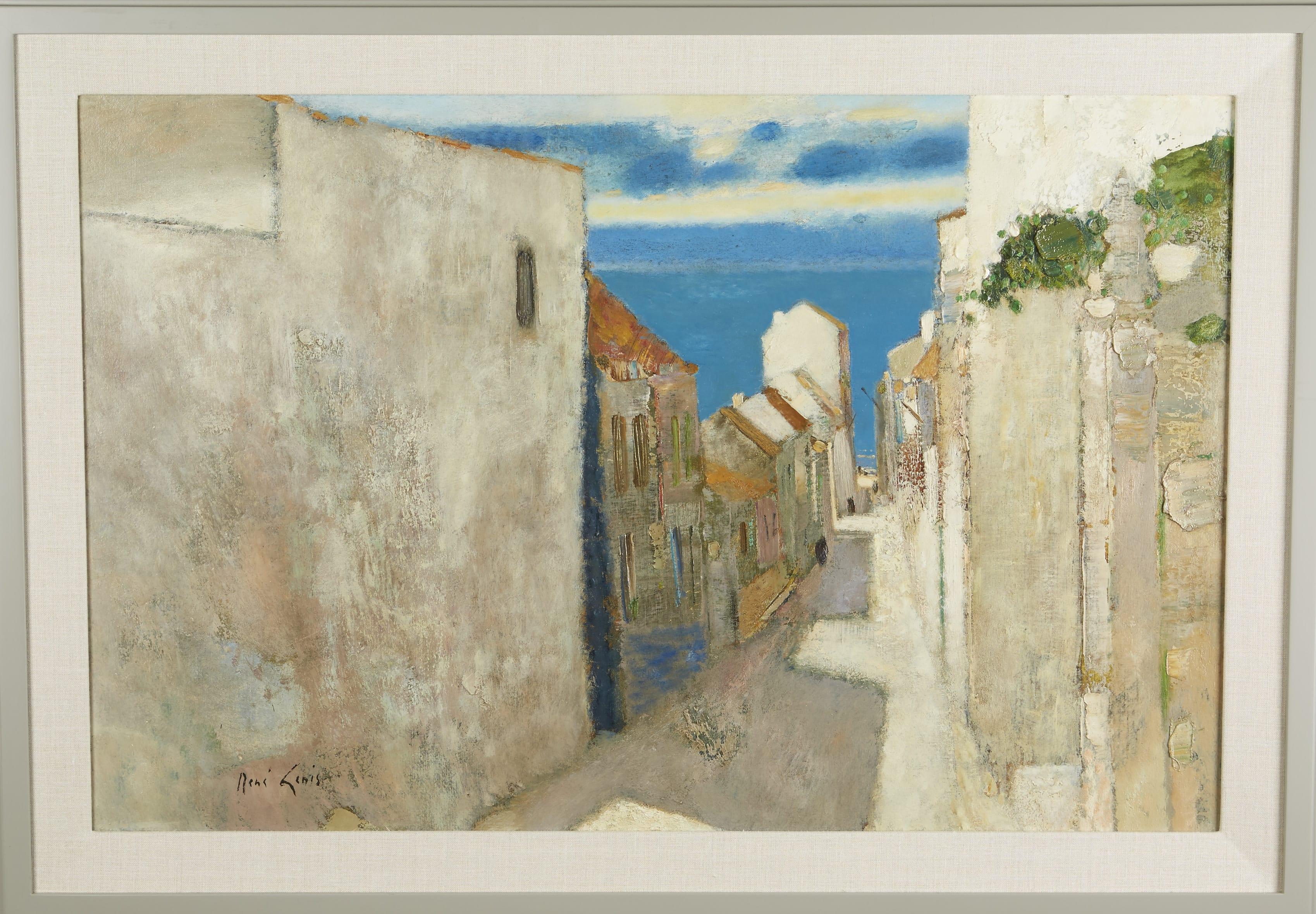 Lot 123: Rene Genis Rue Vers de la Mer Oil on Canvas