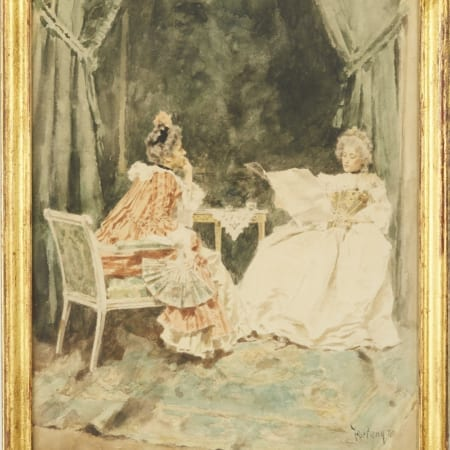 Lot 067: Mariano Fortuny Watercolor