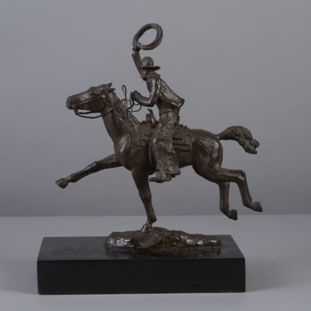 Lot 016: Harry Jackson Bronze Cowboy