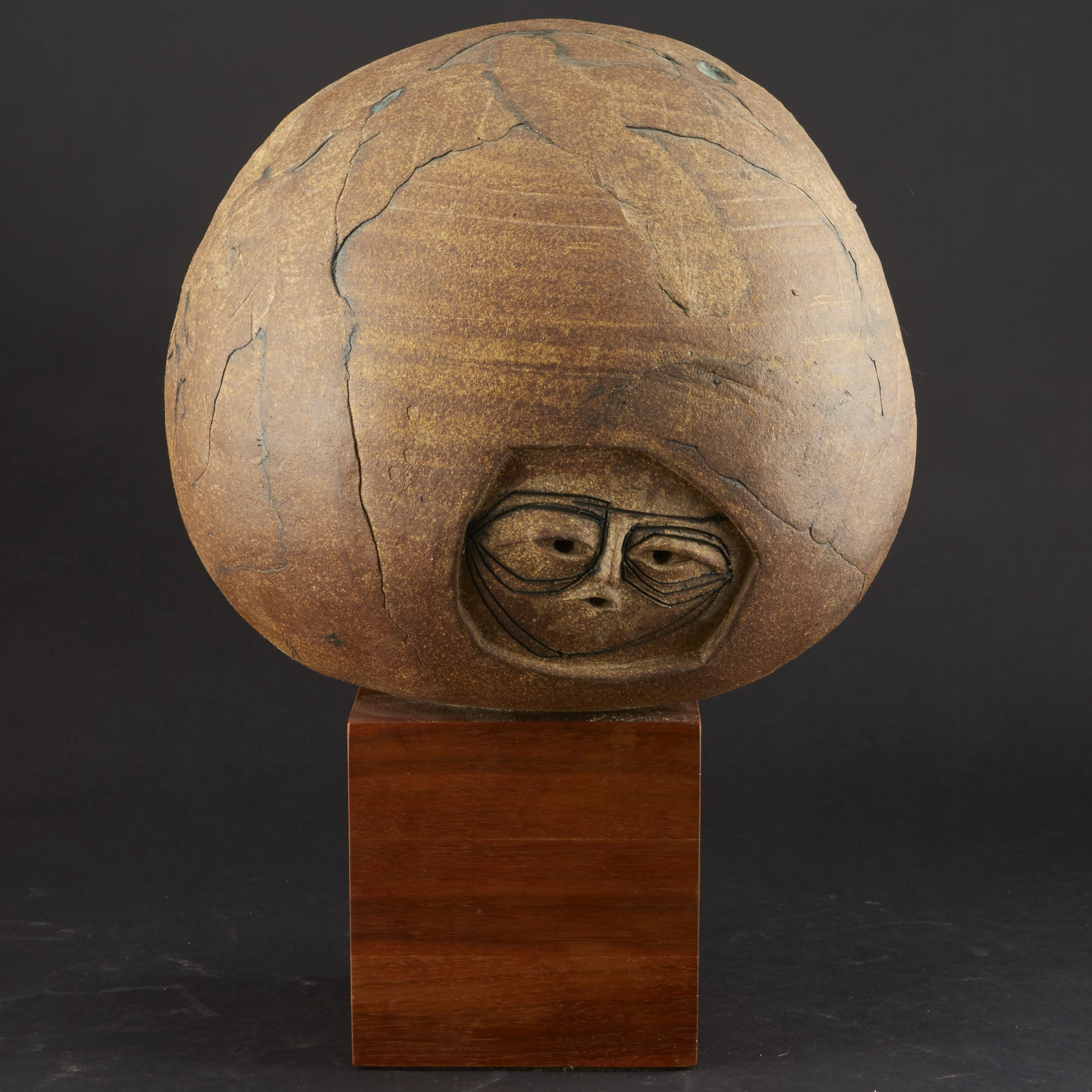 Lot 147: Joel Edwards Globe with Faces