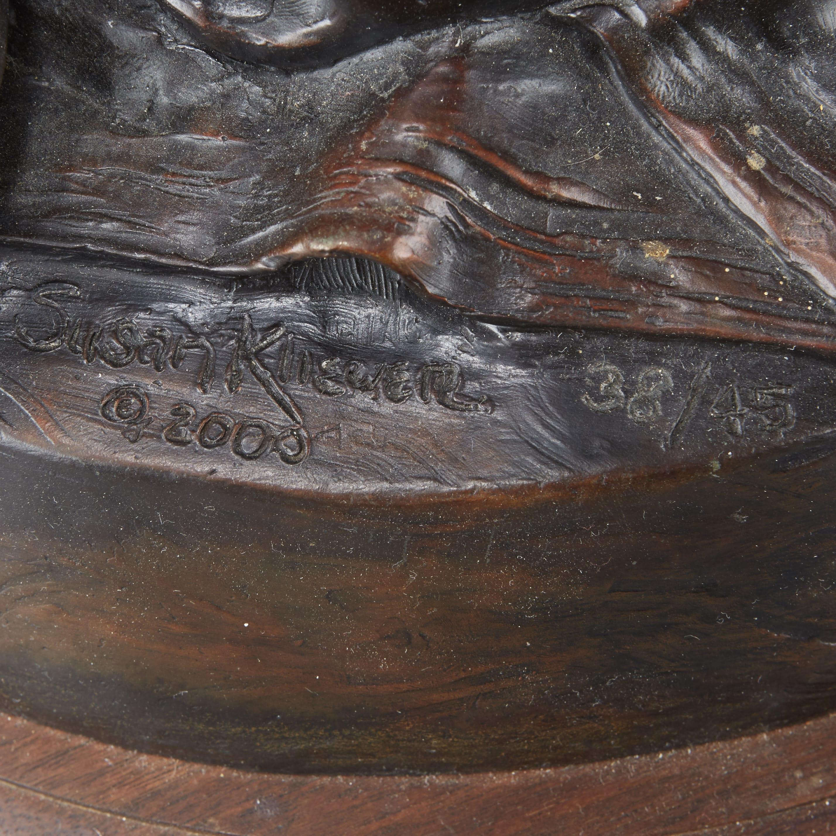 Lot 116: Susan Kliewer Maria Bronze Sculpture