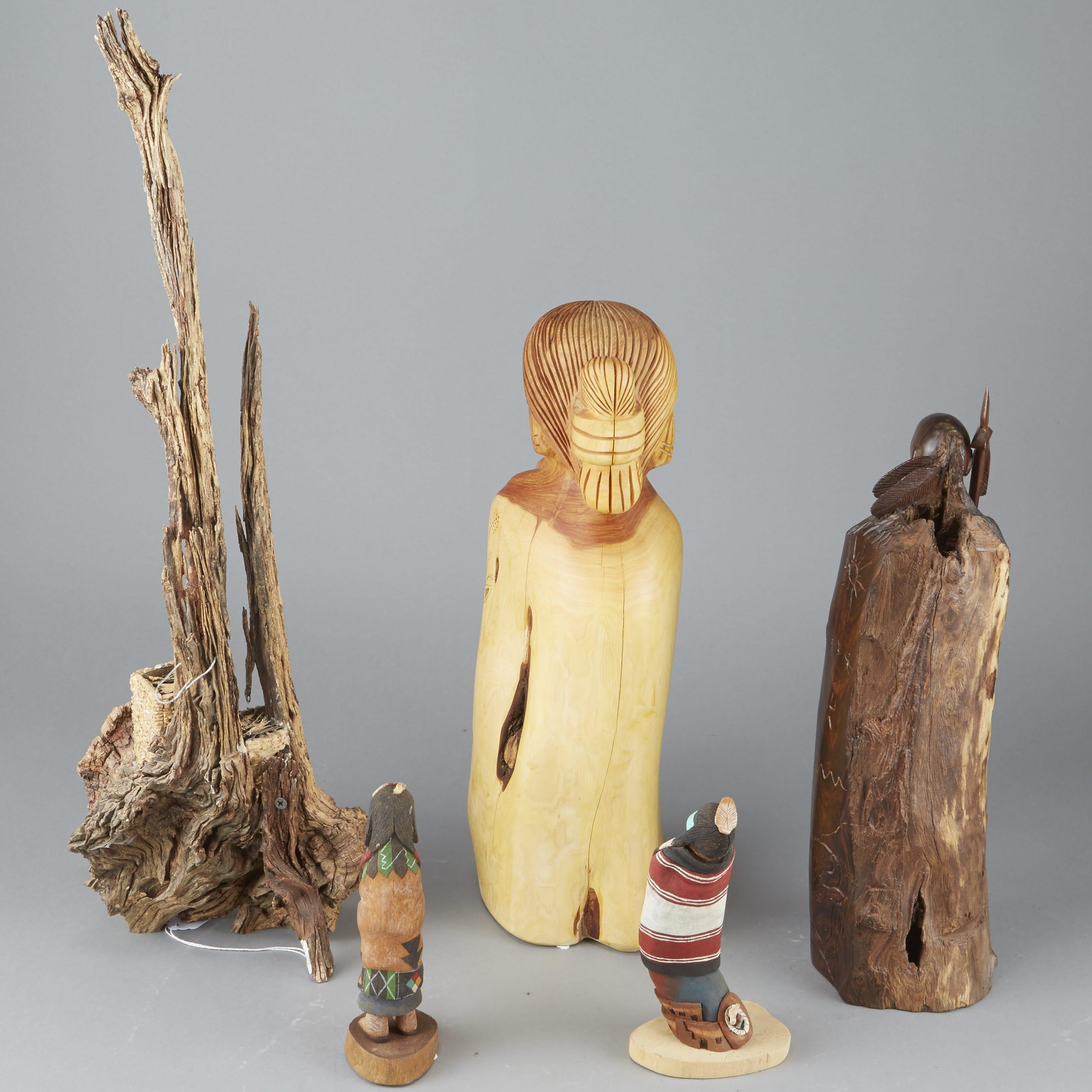 Lot 141: 6 Carved Wood Sculptures Native American Pueblo