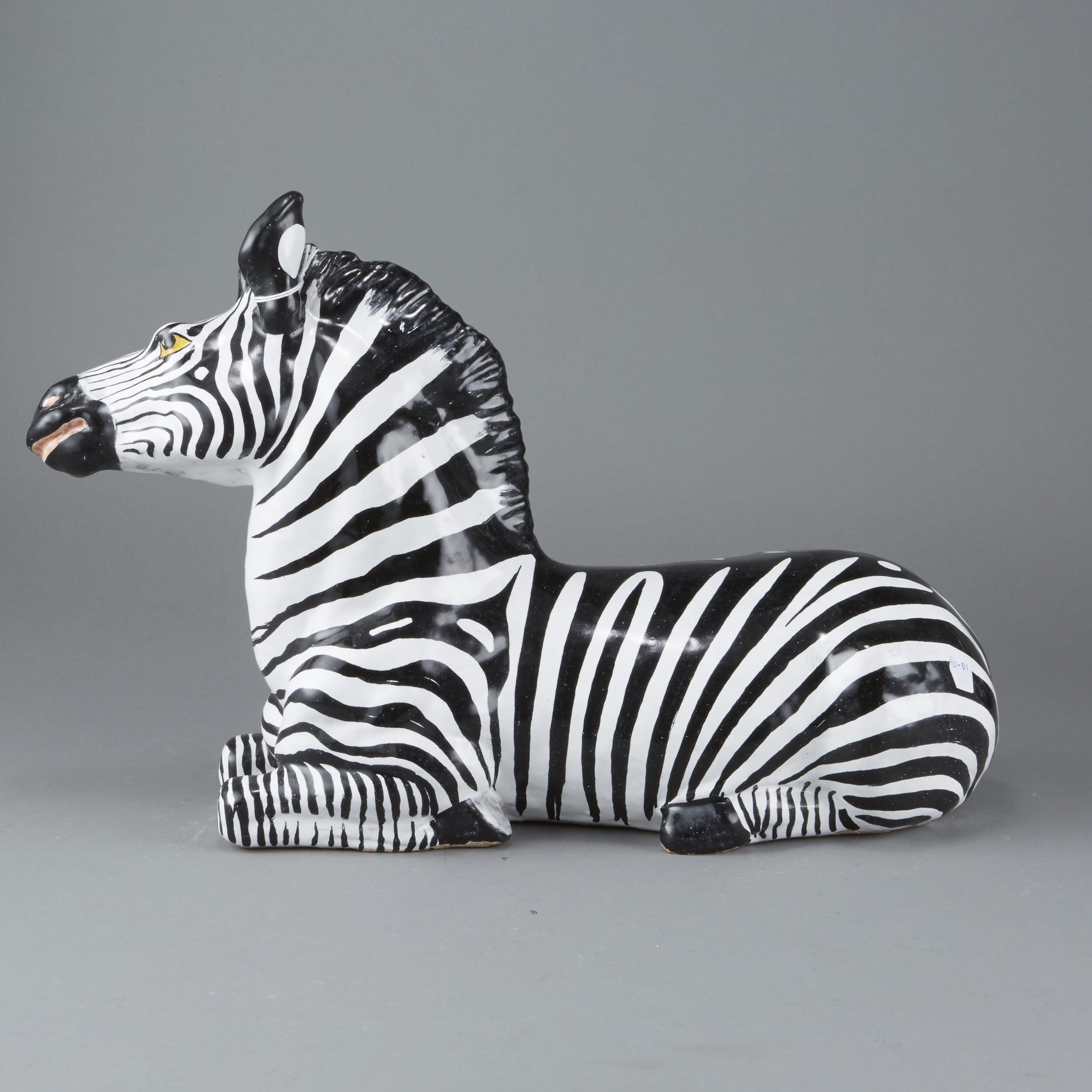 Lot 195: Mid-century Italian ceramic Zebra