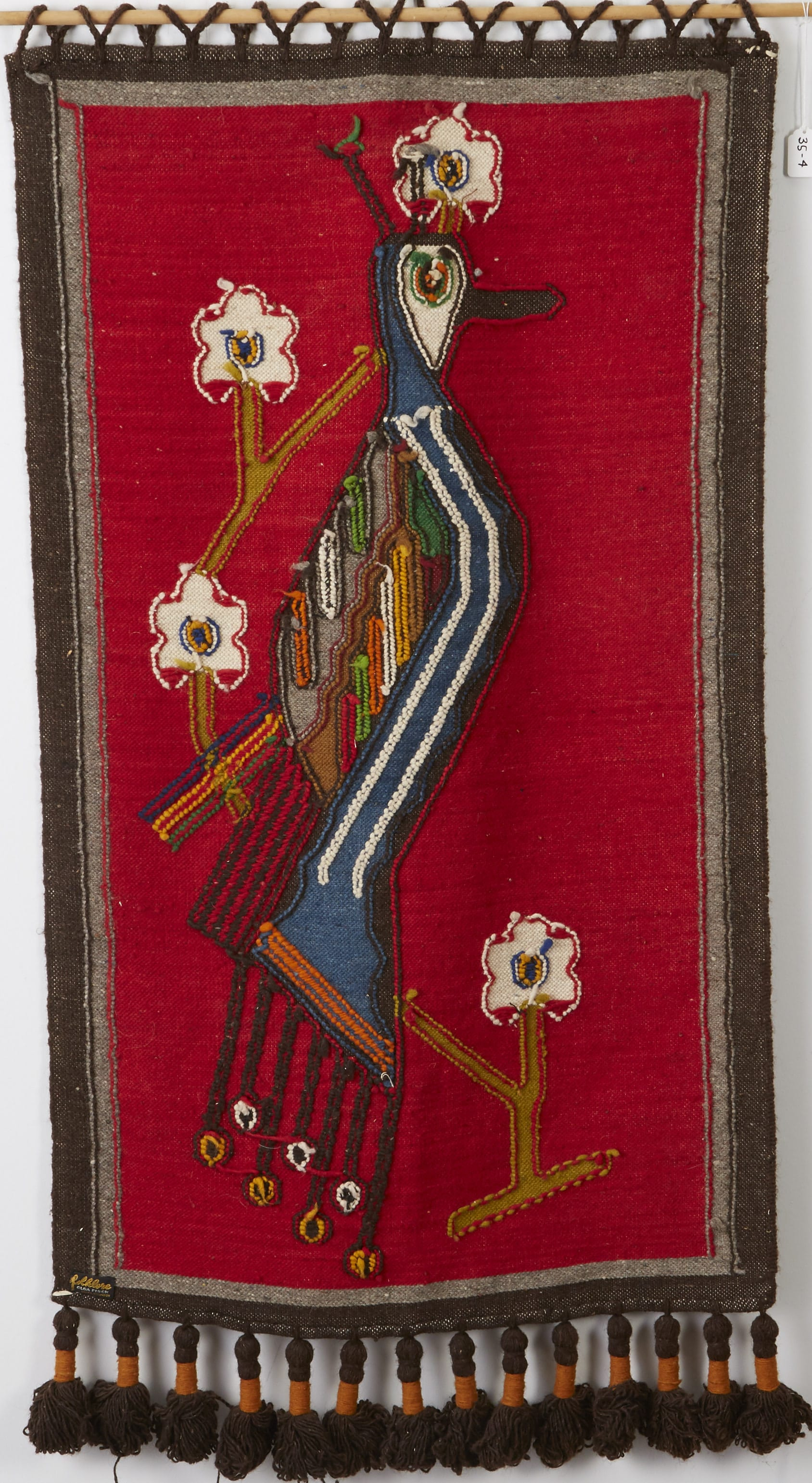 Lot 206: Olga Fisch Woven Wool Tapestry