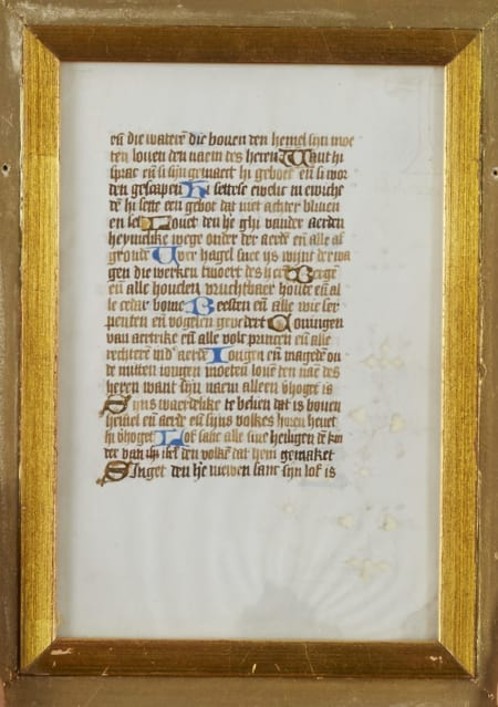 Lot 217: Missal Page Book of Hours