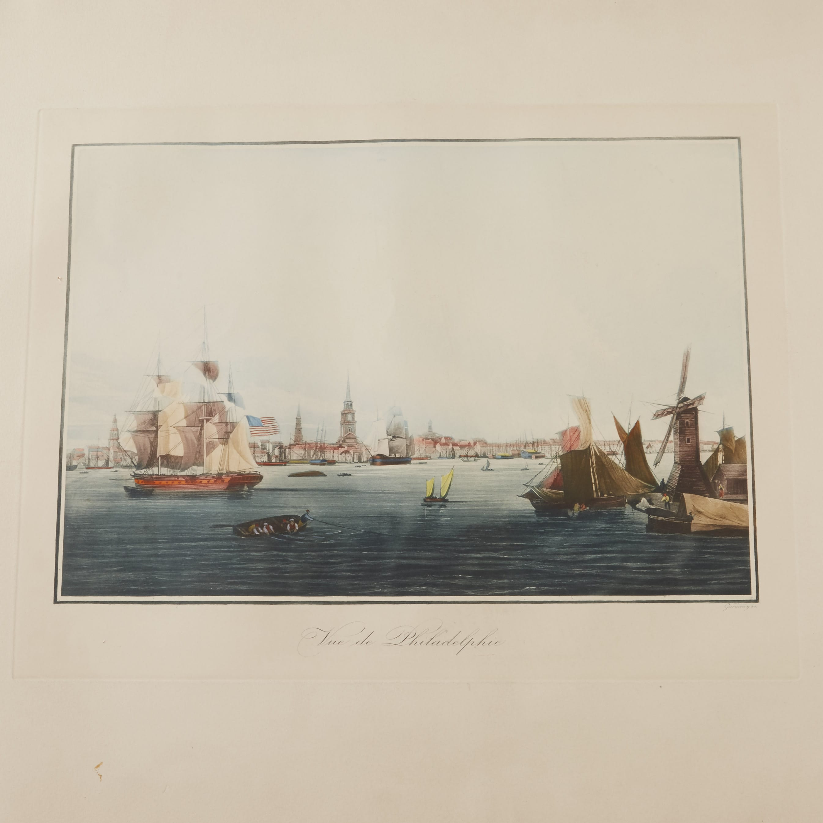 Lot 222: Louis Le Breton Vue de Philadelphie Aquatint