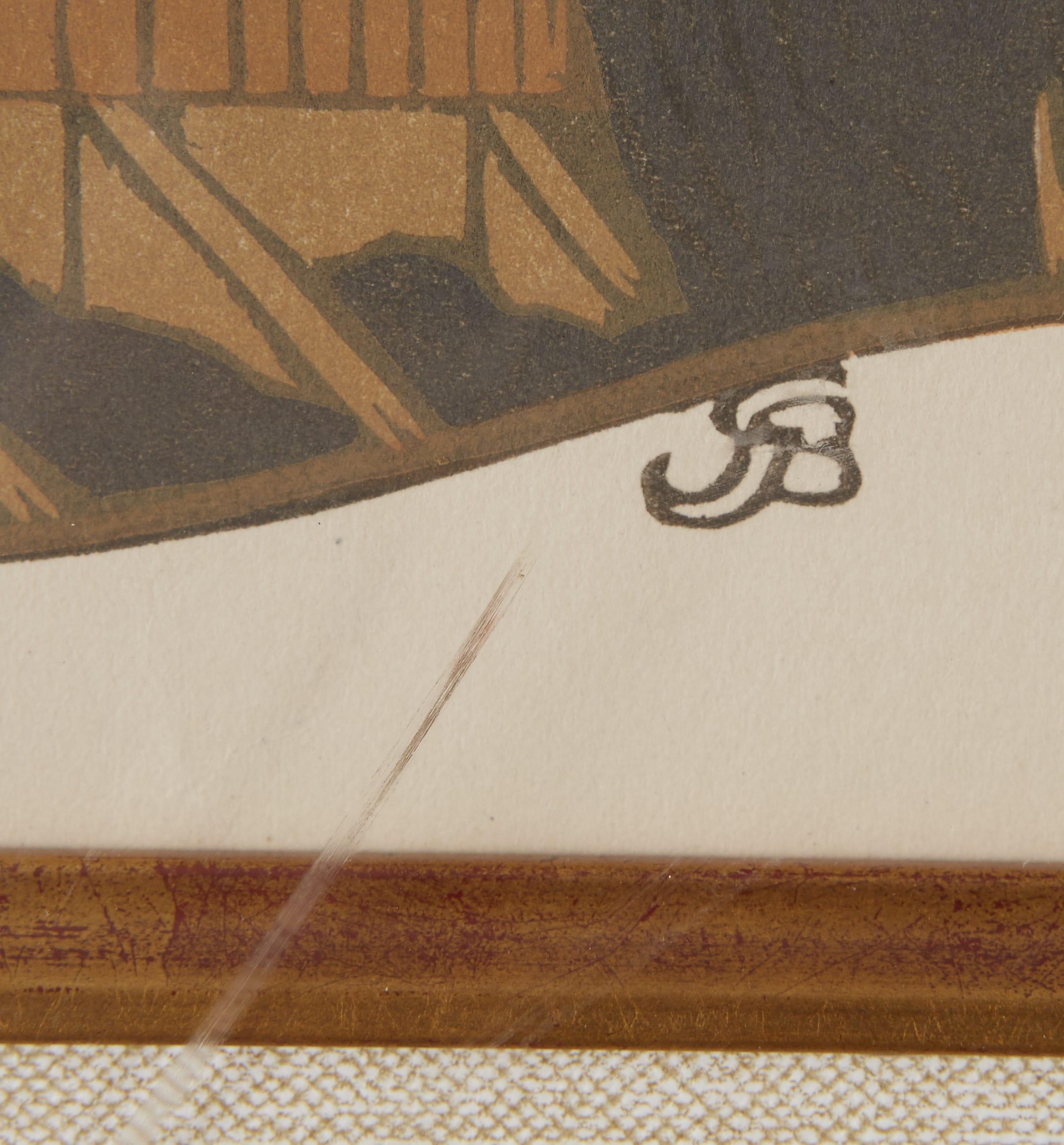 Lot 248: 2 Gustave Baumann Woodcuts.