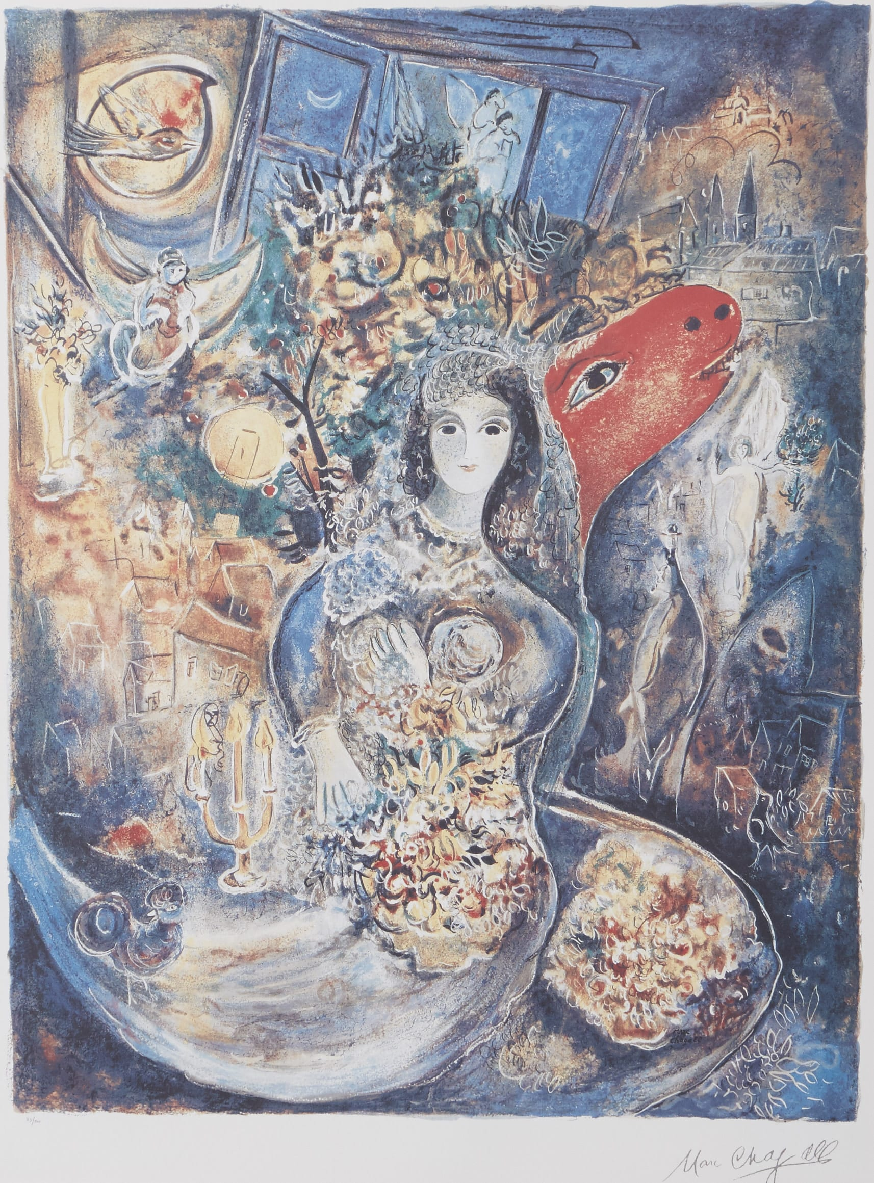 Lot 258: Marc Chagall Bella Offset Lithograph