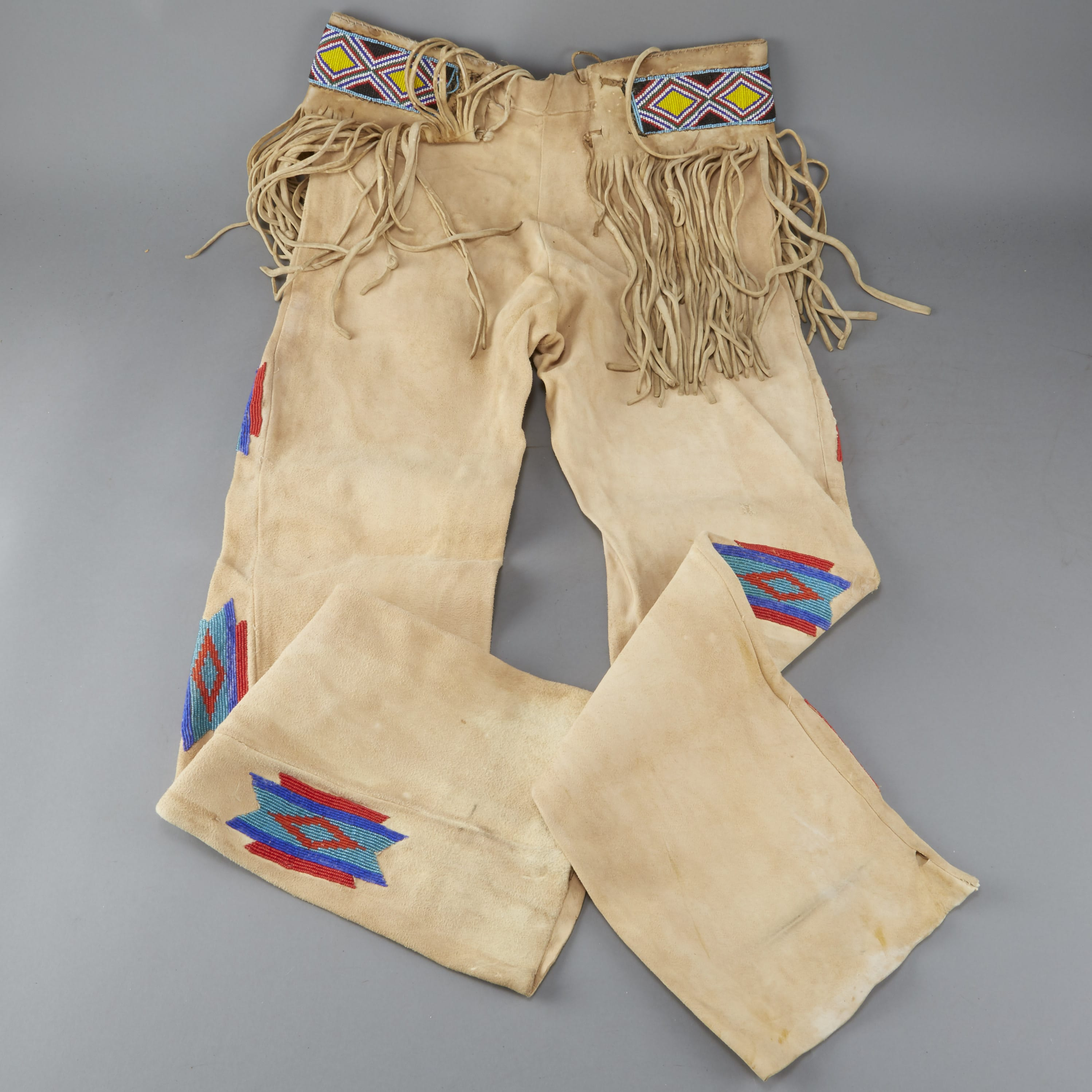 Lot 086: Native American Beaded Leather Pants