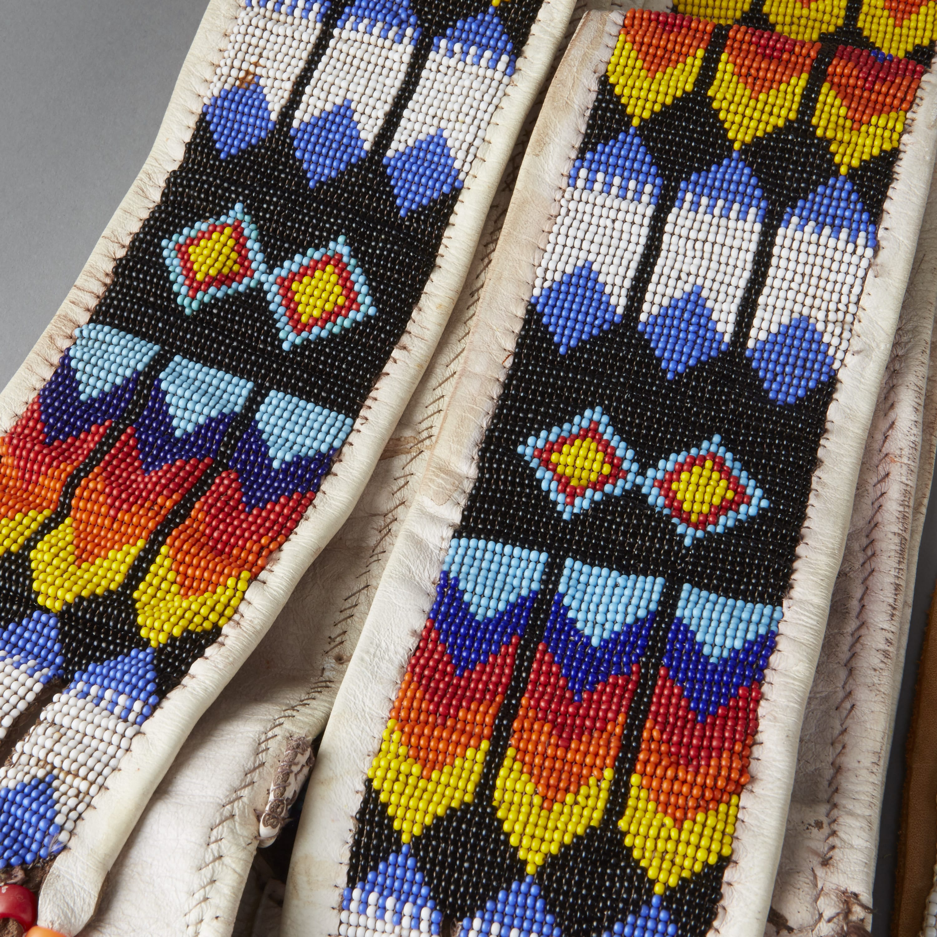 Lot 088: 6 Native American Beaded Objects Cheyenne