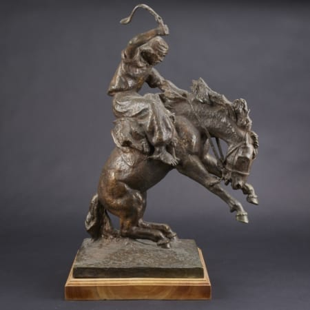 Lot 020: Jose Belloni Jineteando Bronze Sculpture