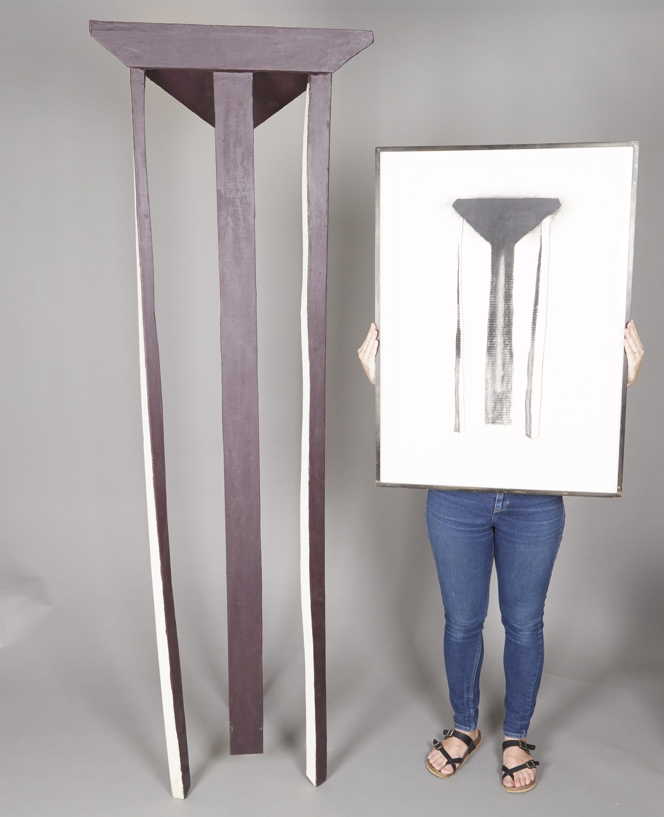 Lot 130: Leonard Titzer Drawing and Sculpture