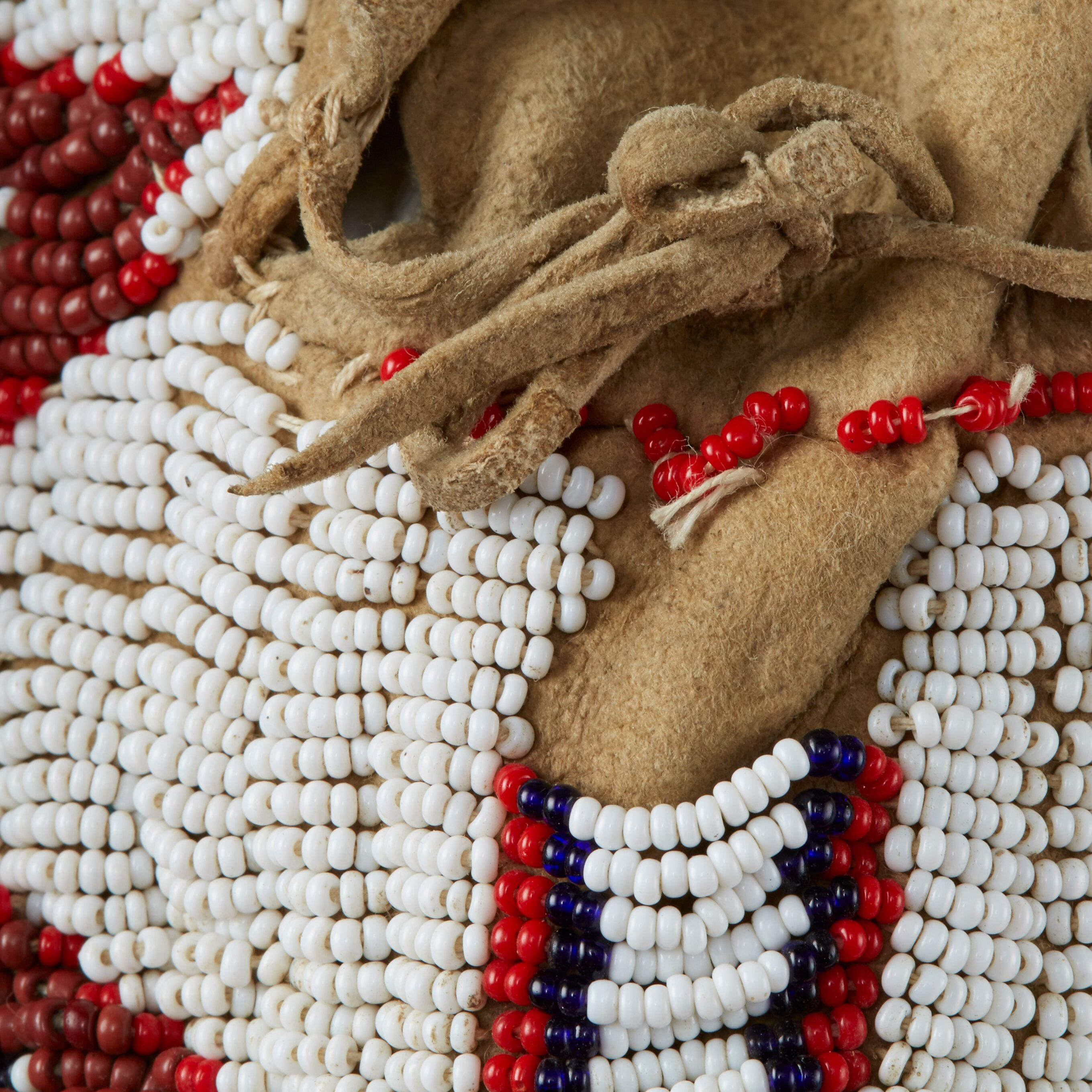Lot 081: 7 Pairs Beaded Moccasins