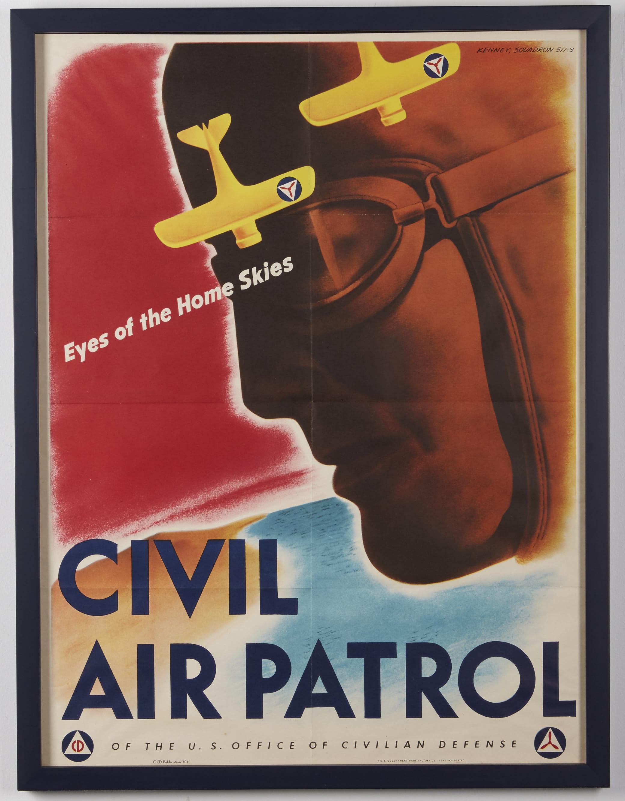 Lot 100: Eyes of the Home Skies Civil Air Patrol Poster 1943