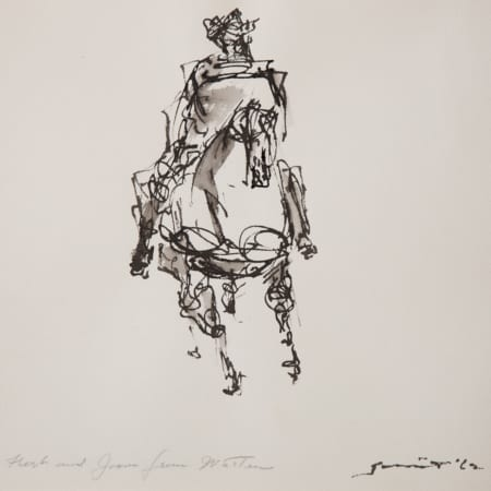 "Walter Quirt ""Rider on a Horse"" Drawing Revere Now [tag]"