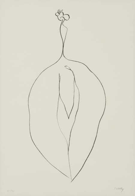 "Lot 011: Ellsworth Kelly ""Seaweed"" from ""Series of Plant Lithographs"""