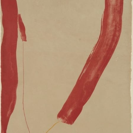 "Lot 013: Helen Frankenthaler ""A Slice of the Stone Itself"" Lithograph"