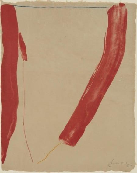 "Lot 013: Helen Frankenthaler ""A Slice of the Stone Itself"" Lithograph"