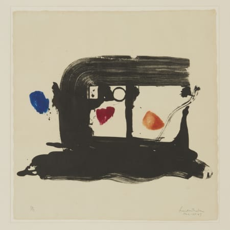 "Lot 014: Helen Frankenthaler ""A Postcard Study for James Schuyler"" Lithograph"