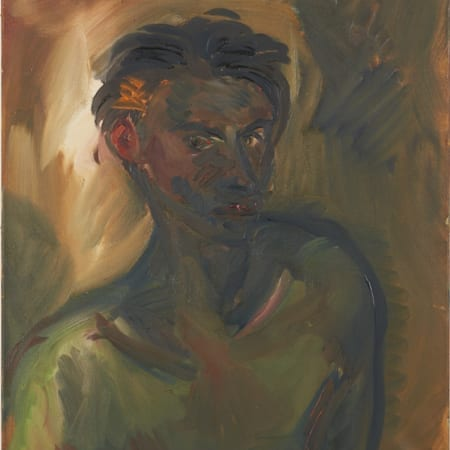 "Lot 021: Rainer Fetting ""Klaus"" 1983 Oil on Canvas"