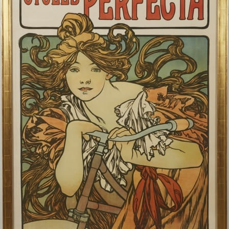 Lot 034: Alphonse Mucha Cycles Perfecta Poster