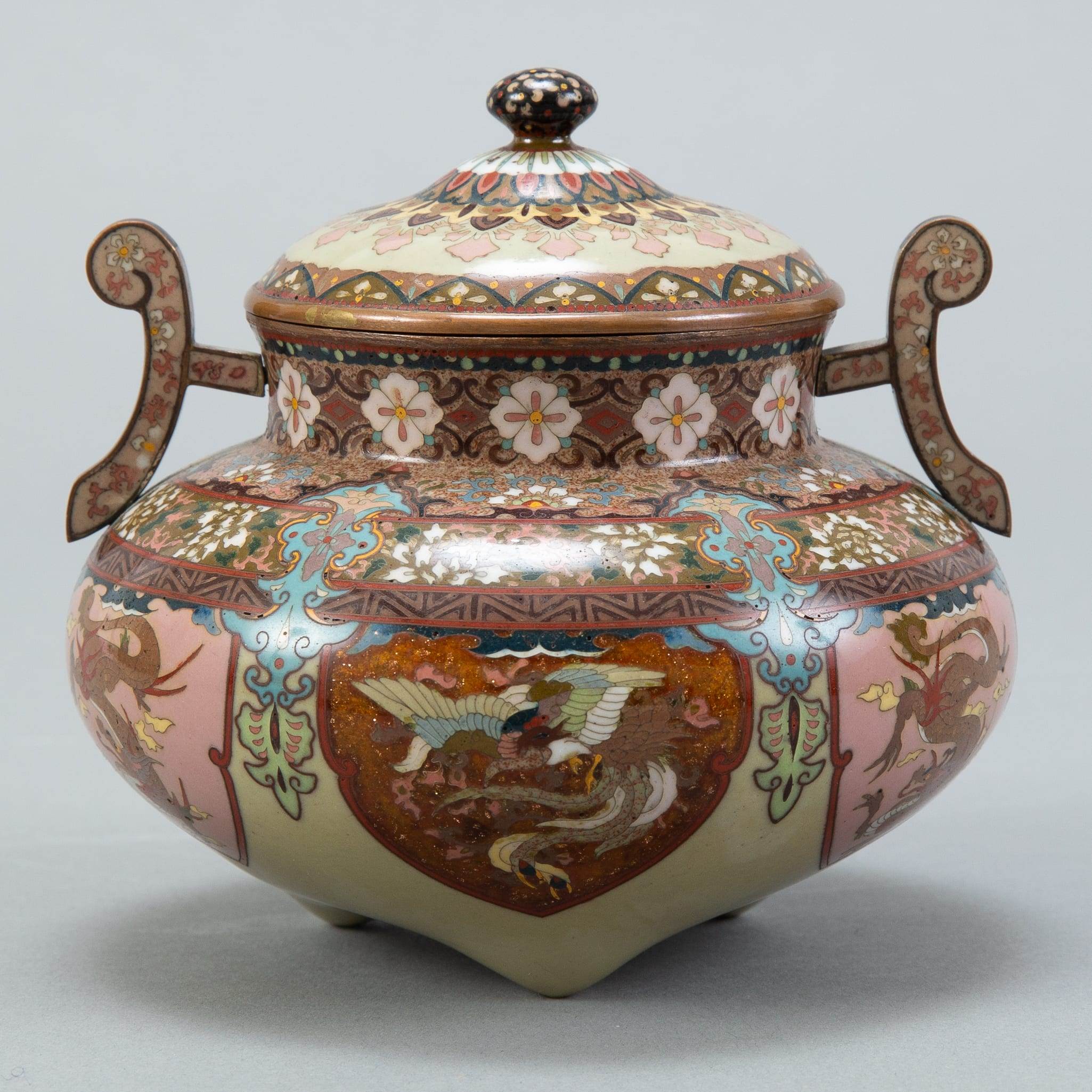 Lot 019: Japanese Meiji Cloisonne Censer