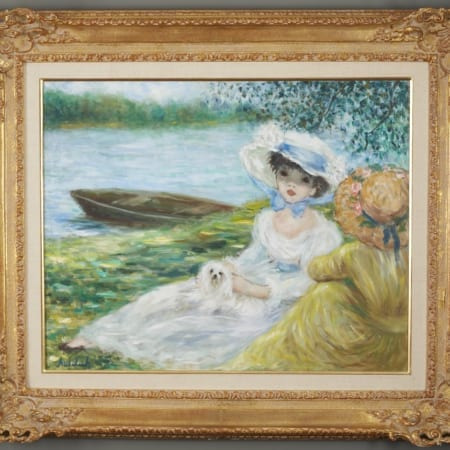 Lot 026: Huldah Jeffe Oil on Canvas