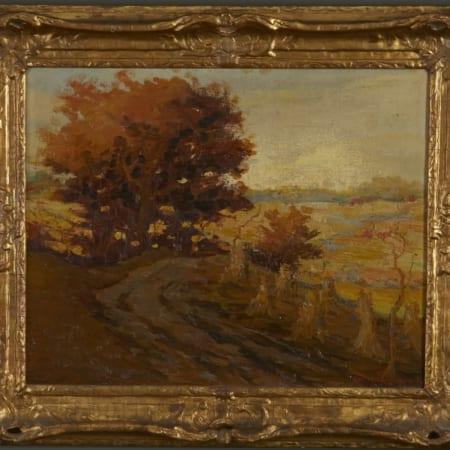 Lot 004: Carl Rawson Landscape Oil on Canvas-laid Board