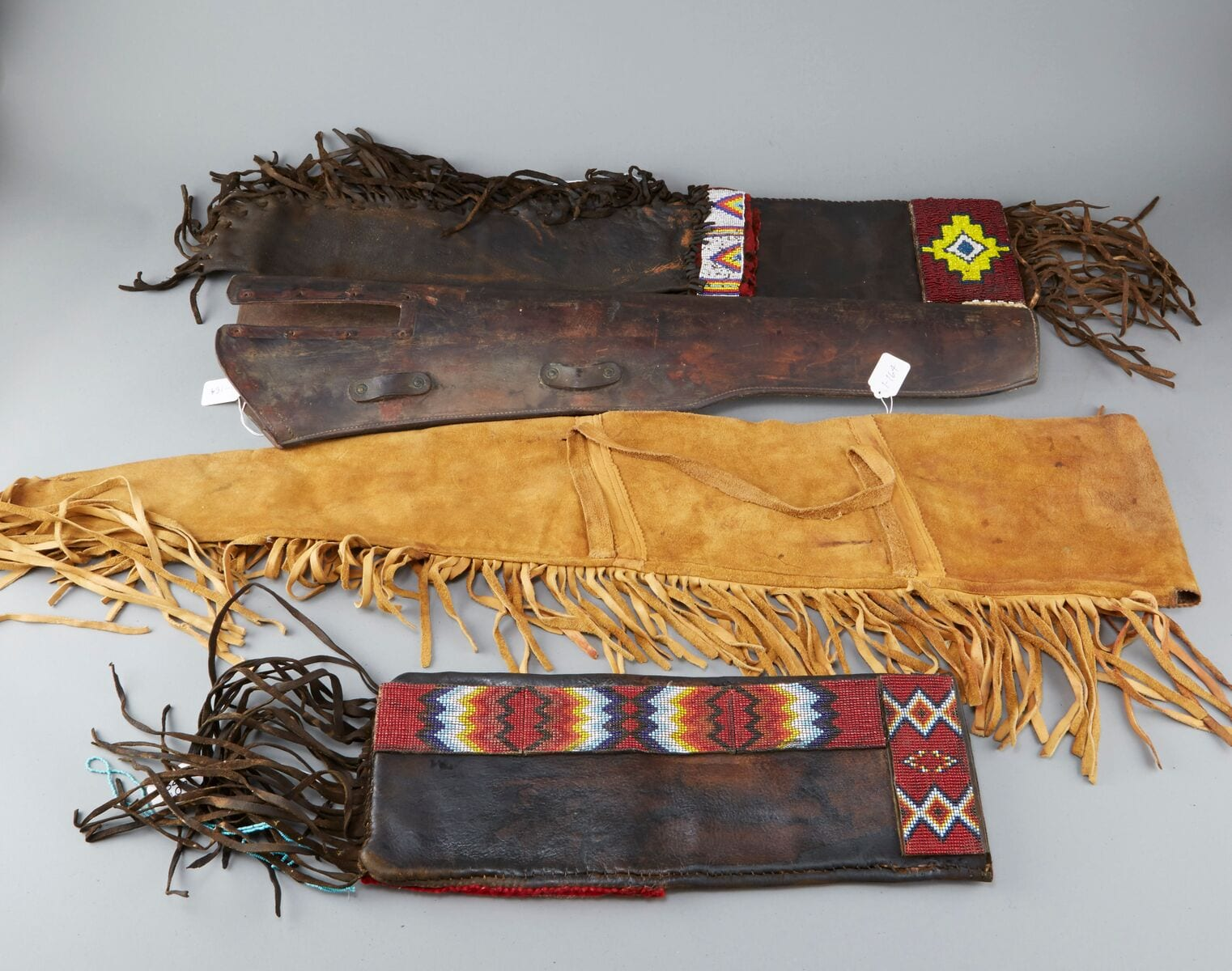 Lot 089: 5 Native American Beaded Rifle Bags