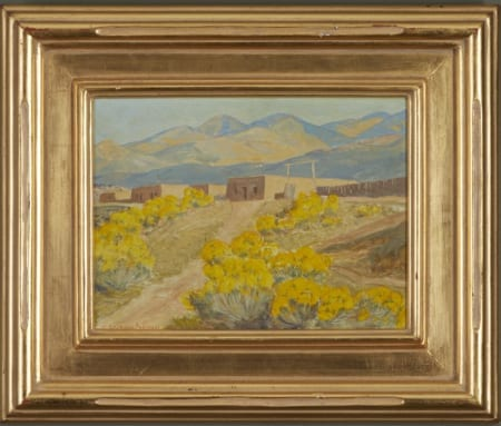 Lot 009: Sheldon Parsons Santa Fe Foothills Oil on Masonite