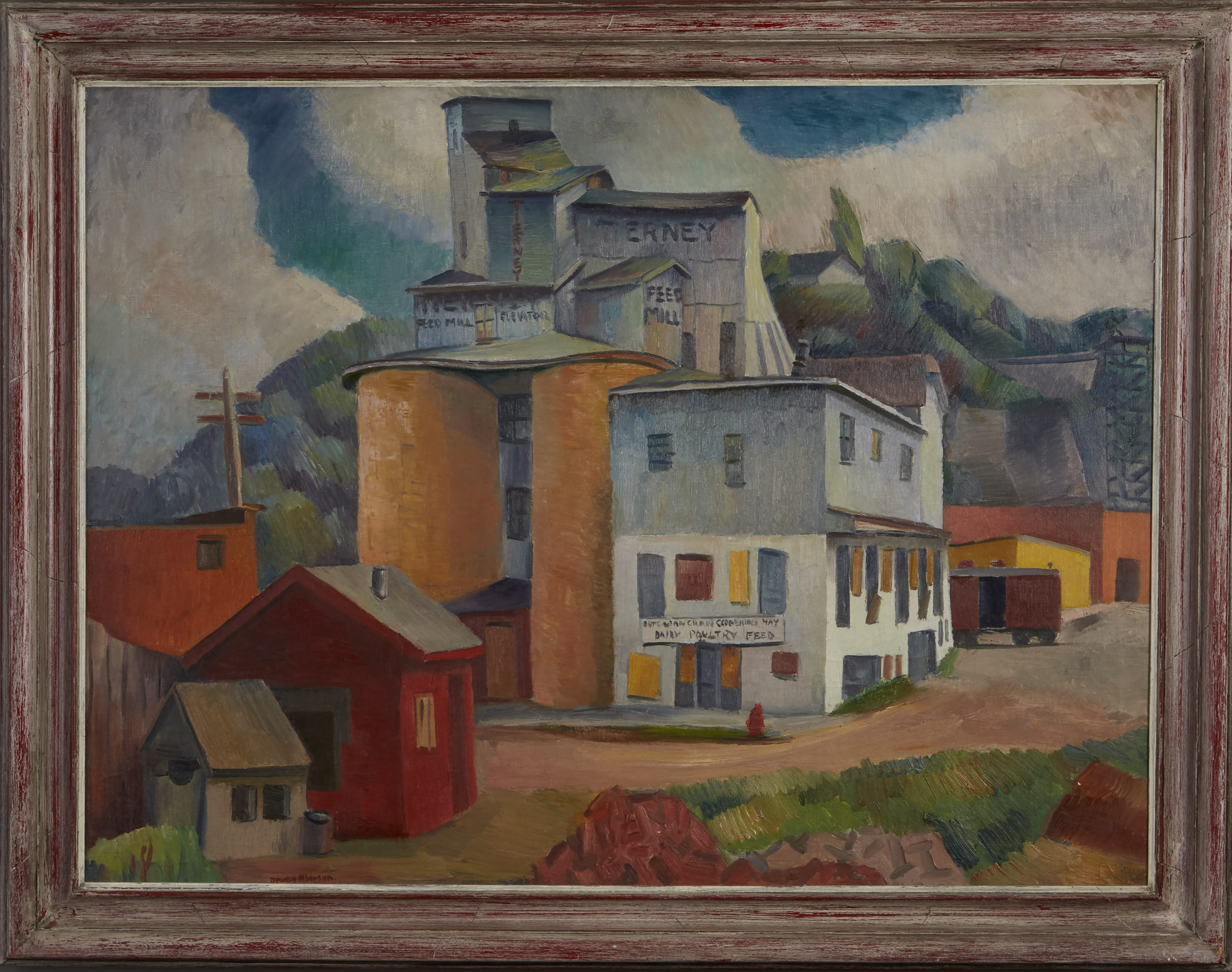 Lot 006: Dewey Albinson Tierney Mills Oil on Canvas
