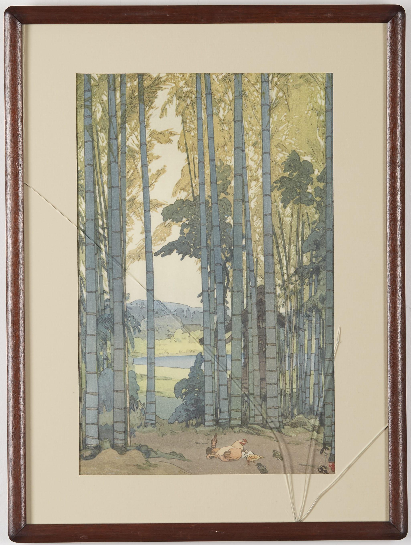 Lot 089: Hiroshi Yoshida Bamboo Wood Woodblock Print