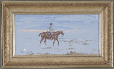 Lot 012: Ace Powell Indian Rider Oil on Canvas