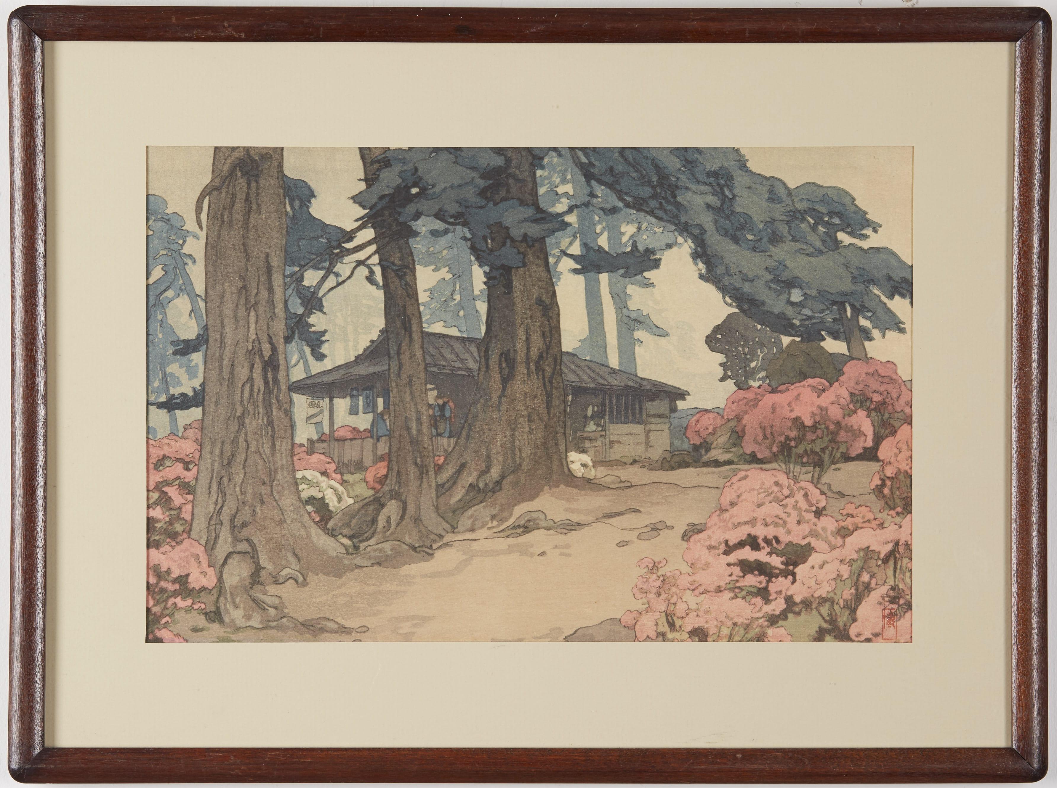 Lot 093: Hiroshi Yoshida Woodblock Print