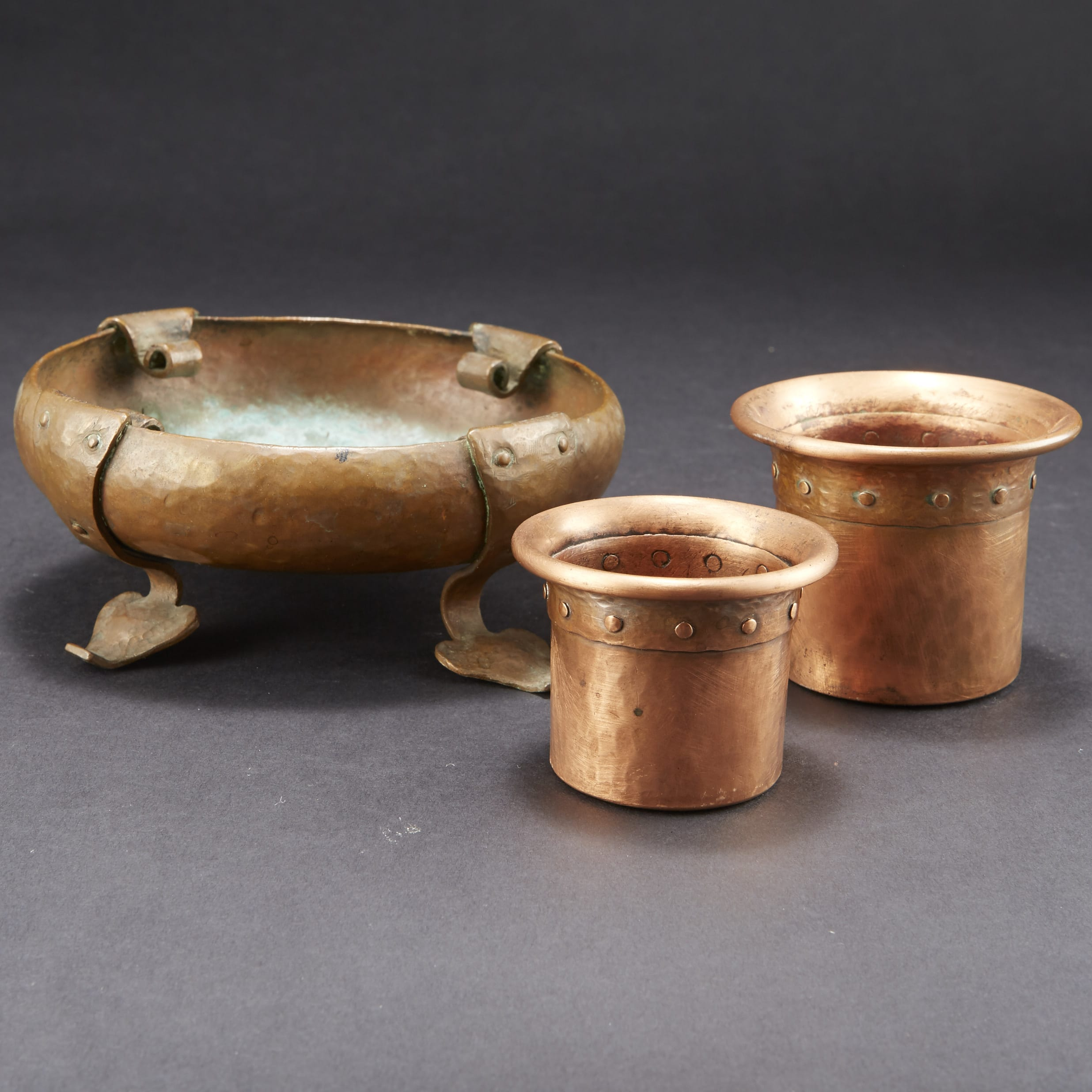 Lot 158: Group of Arts and Crafts Onondaga Copper Pieces