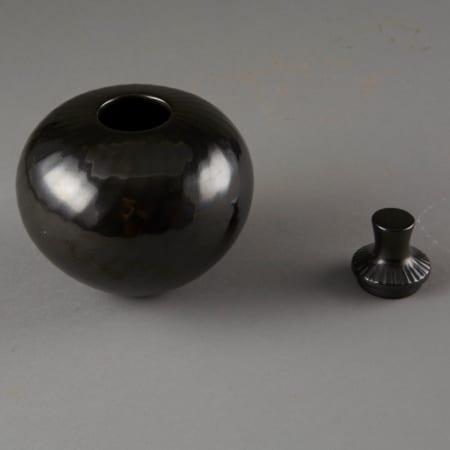 Lot 006: Denny Gutierrez Lidded Blackware Jar