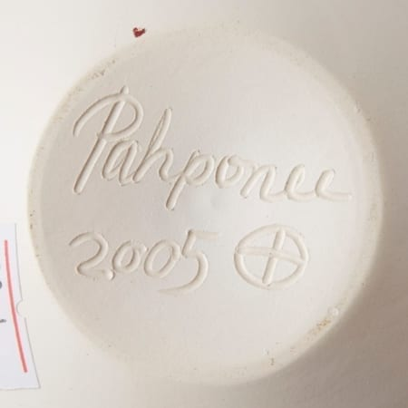 Lot 003: Group of 4 Pahponee Pueblo White Pottery Pots