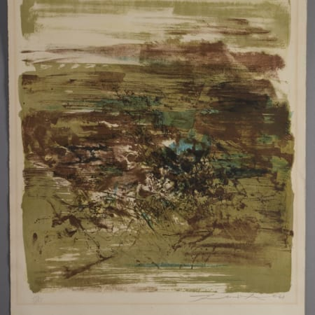 Lot 033: Zao Wou-Ki Untitled Lithograph