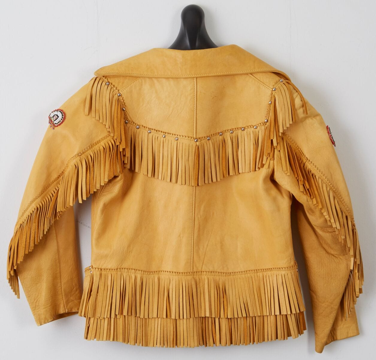 Lot 090: Children's Fringed Leather Jacket with Beadwork