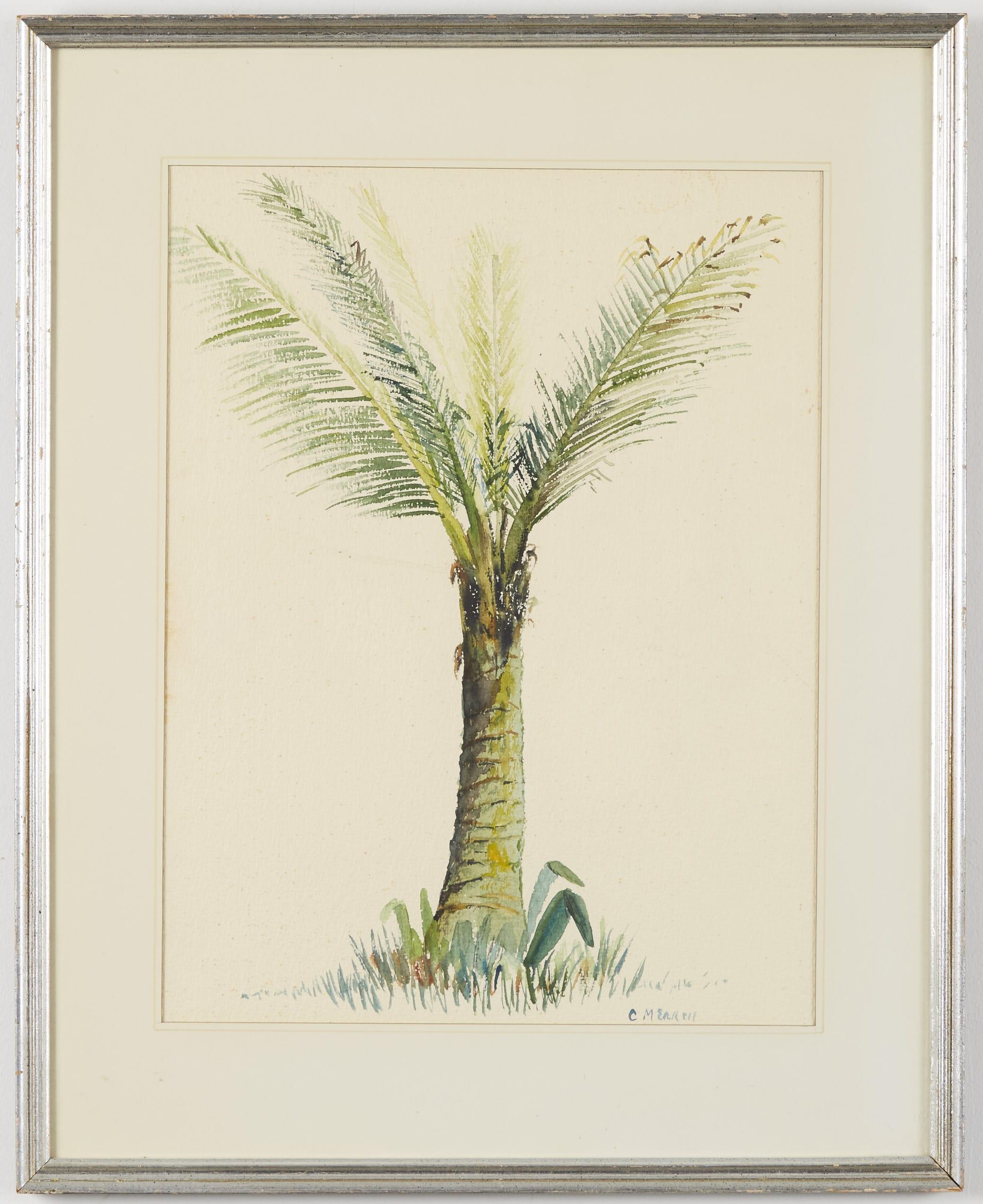 Lot 112: Cyrus Merrill Palm Tree