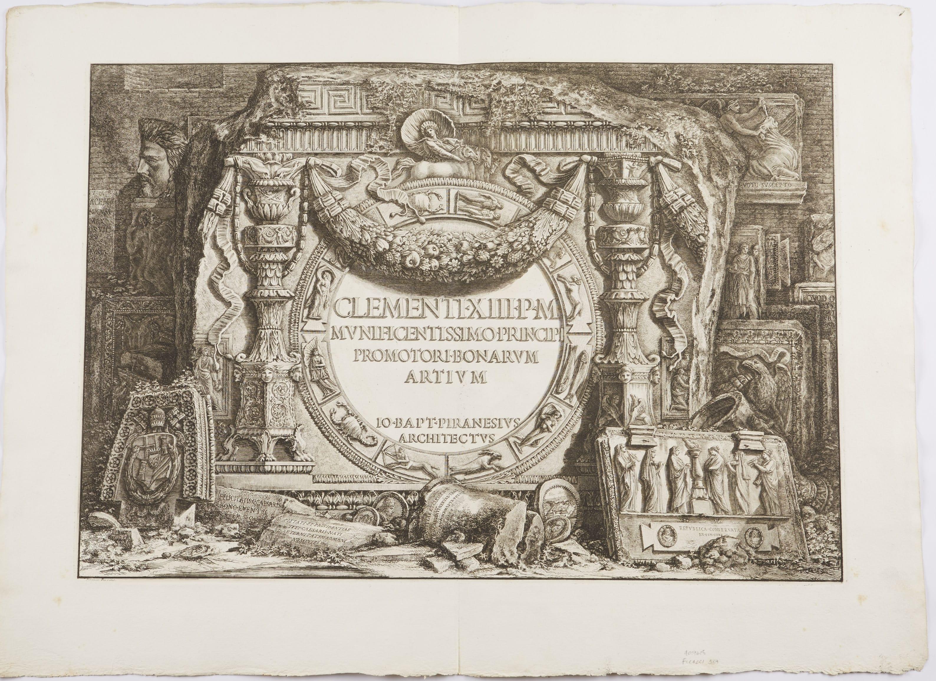 Lot 107: Giovanni Battista Piranesi Three Etchings