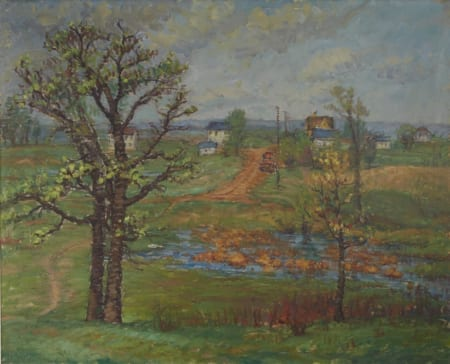 Lot 001: Ada Wolfe Spring Oil on Canvas