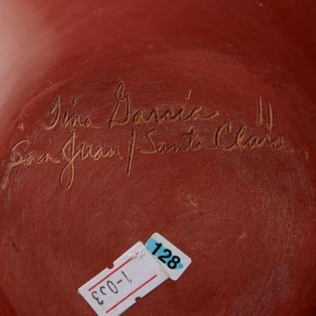 Lot 004: Tina Garcia Santa Clara Redware Jar