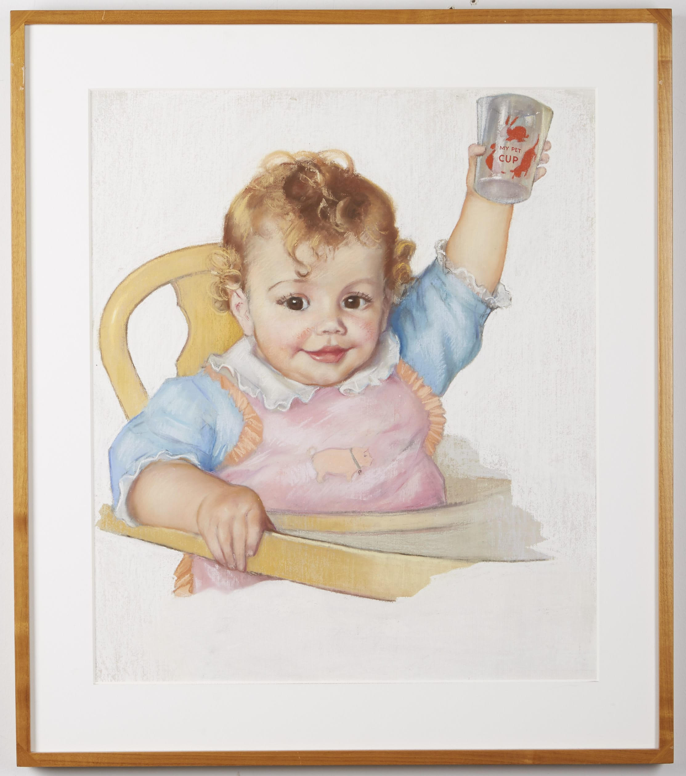 Lot 113: Baby Pastel on Paper
