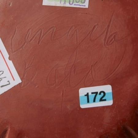 Lot 013: 4 Redware Pottery Bowls Baca Tafoya Curran and Suazo